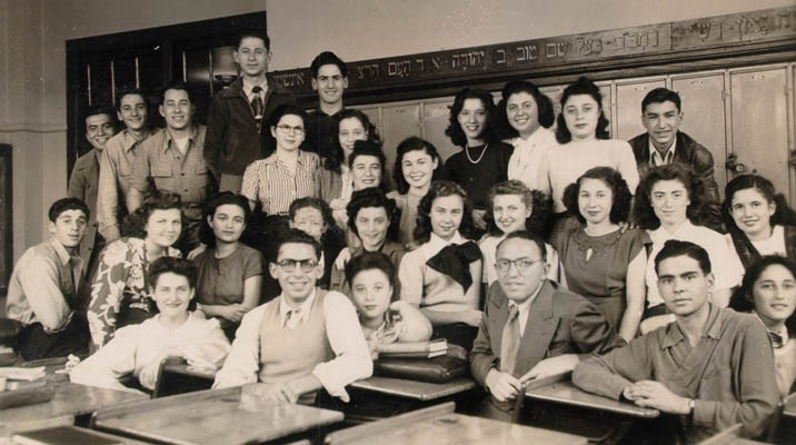 Dr. Horowitz's Hebrew class at Jefferson High School, Brooklyn, New York, 1947. [LCID: gelb23]