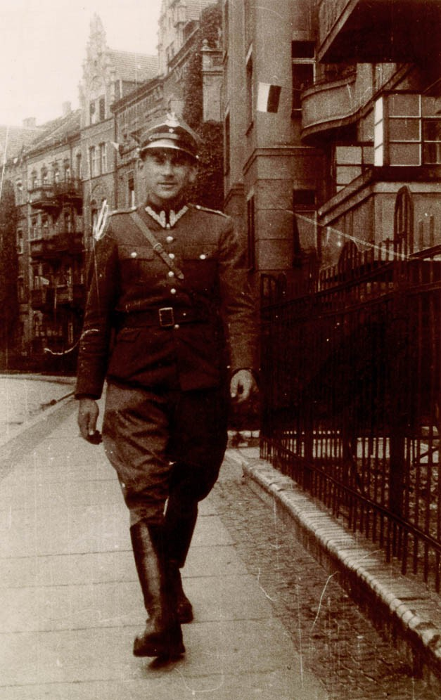 "<p><a href=""/narrative/10265"">Norman Salsitz</a> while under the assumed identity Tadeusz Zaleski. Legnica, Poland, 1945.</p>"