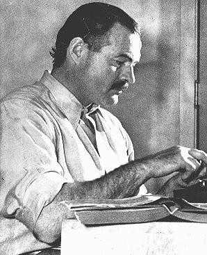 "<p>Ernest Hemingway, among the greatest American novelists, was a member of the ""Lost Generation"" of expatriate writers who were disillusioned by war. In 1933 the Nazis burned Hemingway's novels as part of the public <a href=""/narrative/7631"">book burning</a> in Berlin. United States, ca. 1950.</p>"