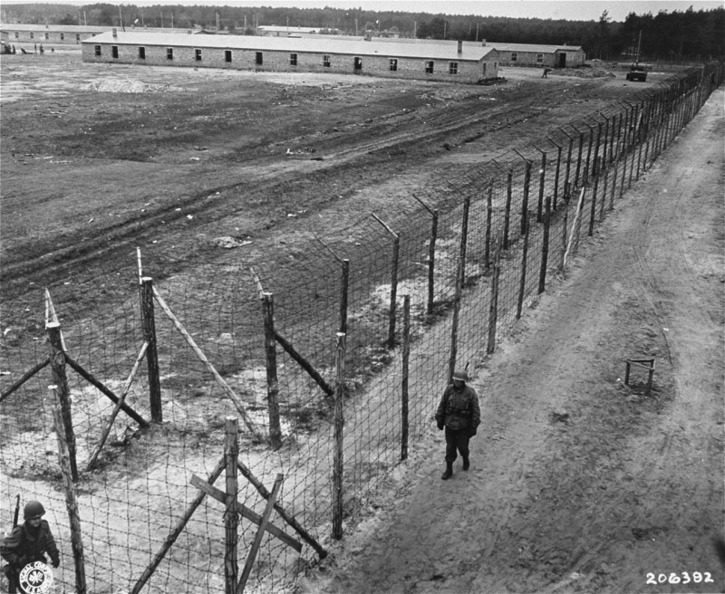 On May 2, 1945, the 8th Infantry Division and the 82nd Airborne Division encountered the Wöbbelin concentration camp. [LCID: 18048]