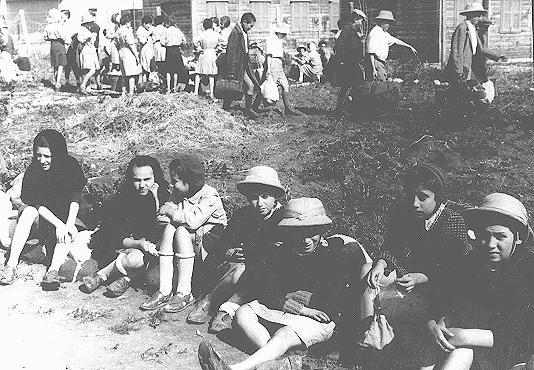 "<p>Some of the Polish Jewish refugee children known as the ""Tehran Children."" Atlit, Palestine, February 1943.</p>"