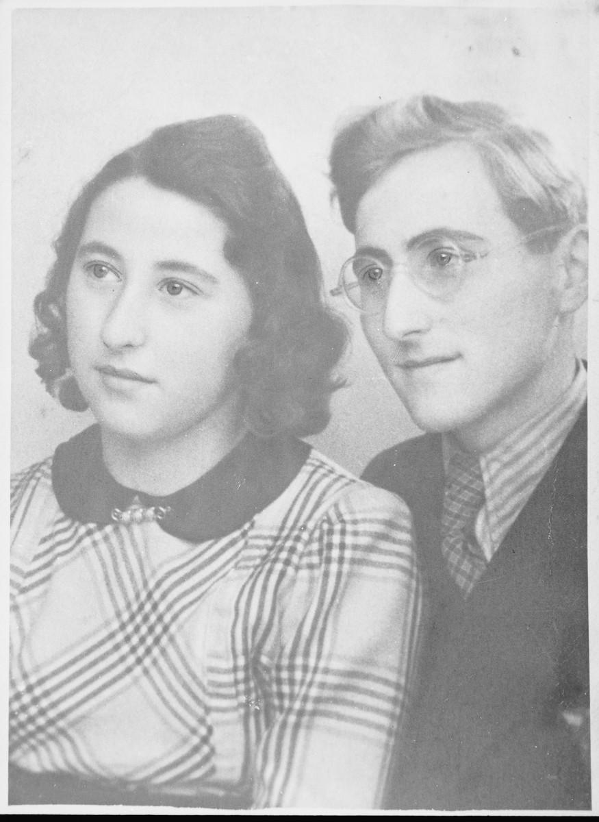 Portrait of Margot (Miriam) and Gerhard (Gad) Beck