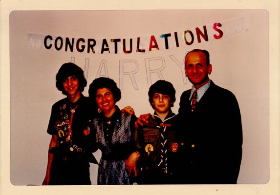 Celebration after one of Regina's sons, Harry, received the Eagle Scout Award. [LCID: gelb34]
