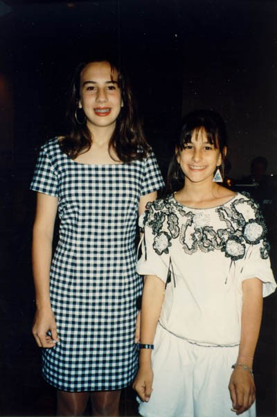 1991 photograph of Aron and Lisa's granddaughters, Courtney and Lindsay. [LCID: derm37]