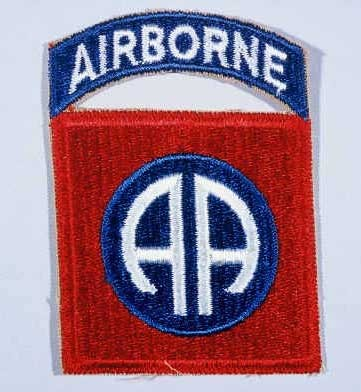 """Insignia of the 82nd Airborne Division. The nickname for the 82nd Airborne Division originated in World War I, signifying the """"All American"""" composition of its members."""