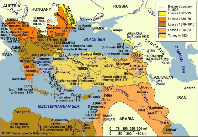 The Dissolution of the Ottoman Empire, 1807-1924 | The Holocaust  Encyclopedia