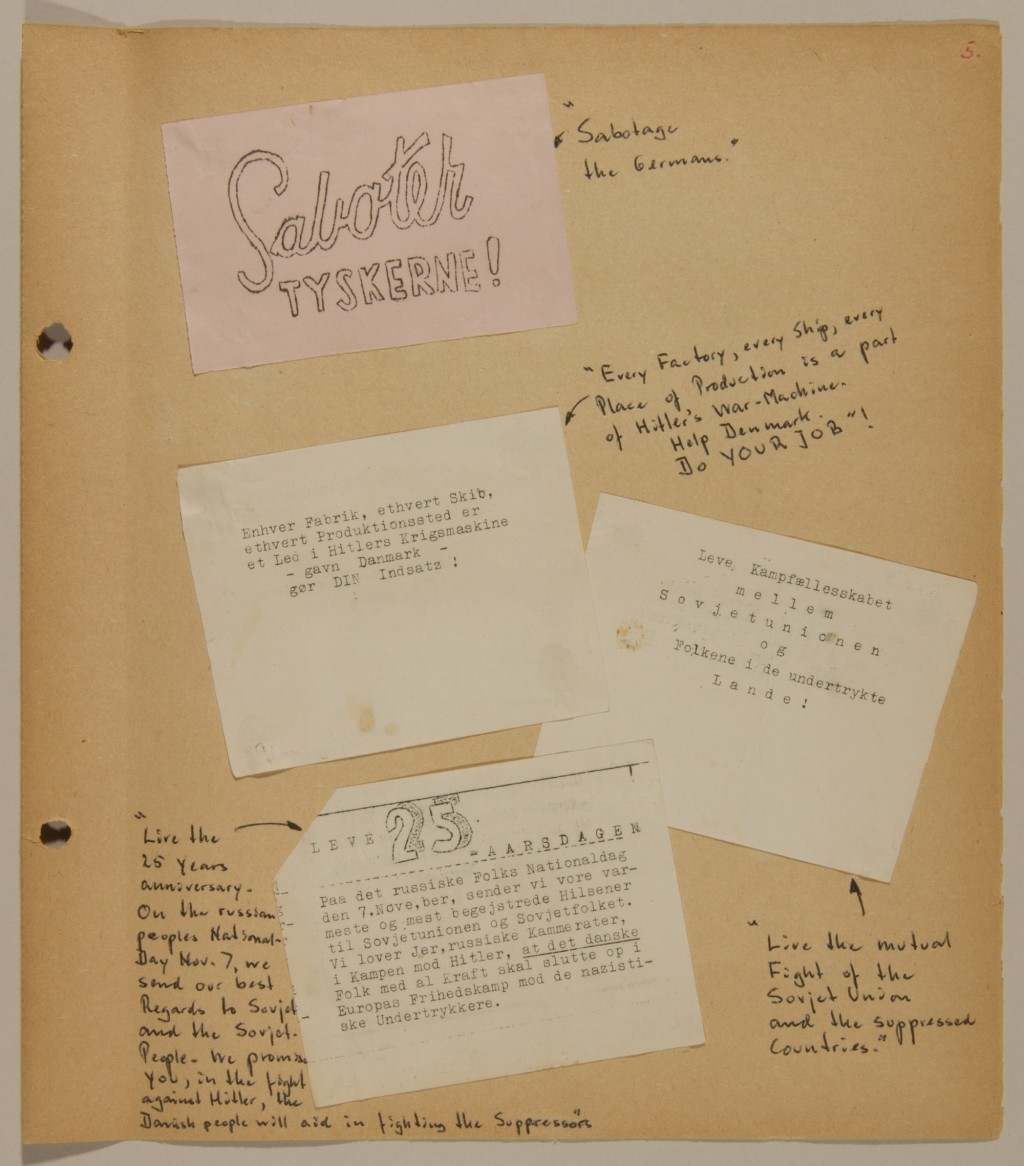 Page from volume 5 of a set of scrapbooks documenting the German occupation of Denmark [LCID: 2016yapy]