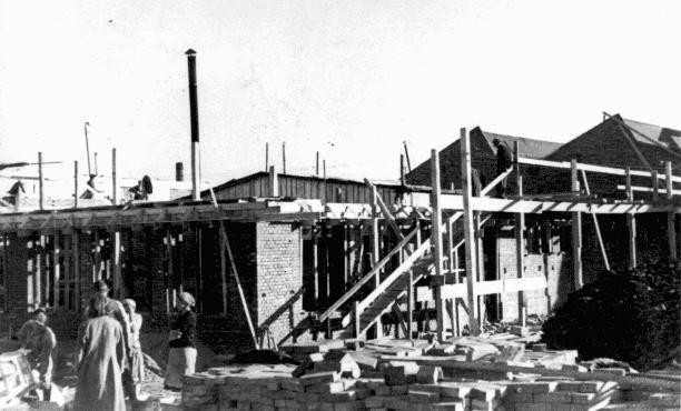 "<p>Construction of <a href=""/narrative/7526/en"">Oskar Schindler</a>'s armaments factory in Bruennlitz. Czechoslovakia, October 1944.</p>"