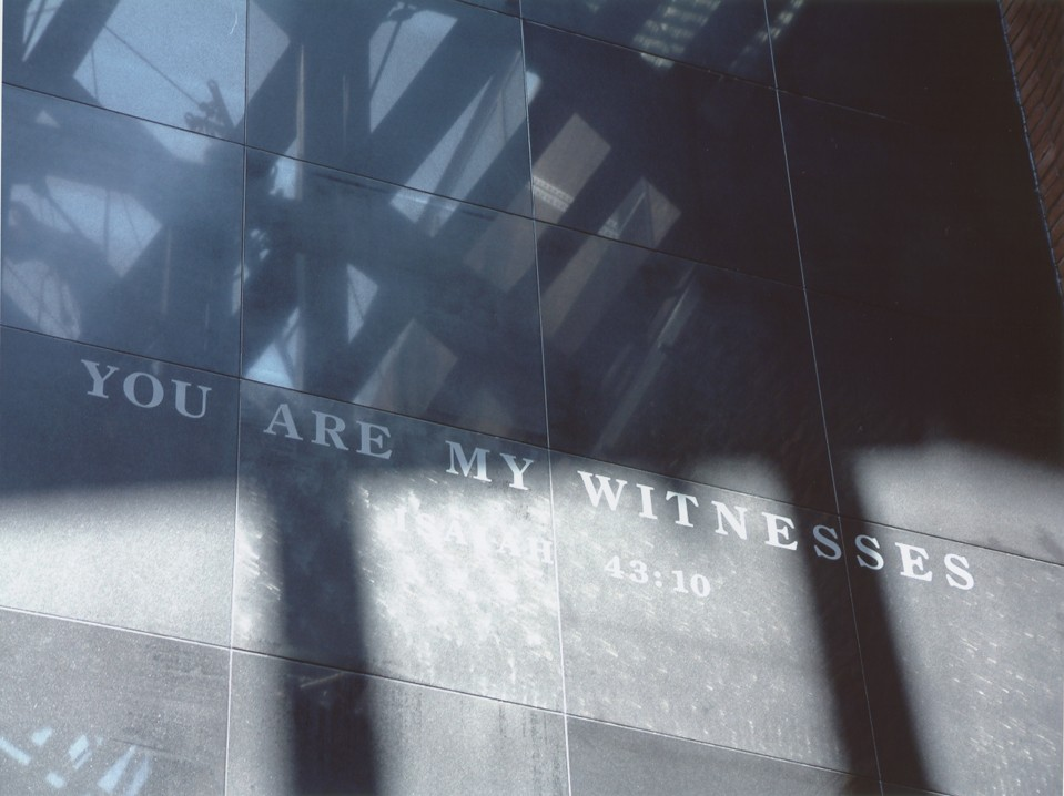 "<p>The ""You Are My Witnesses"" wall in the Hall of Witness at the United States Holocaust Memorial Museum. Washington, DC, January 2003.</p>"