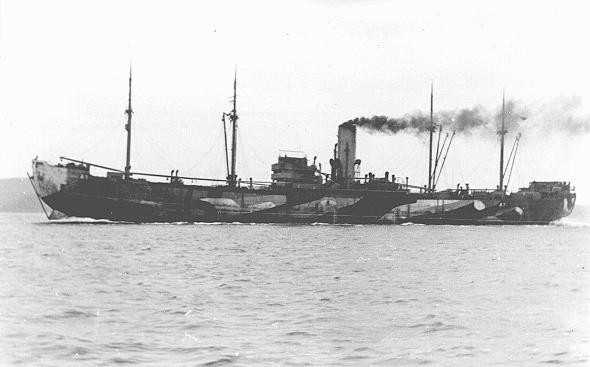 "The ""Donau,"" one of the largest ships used to deport Jews from Norway to Germany. [LCID: 89094]"