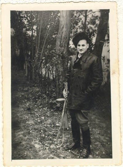 Aron Derman while he was with Polish partisans in 1944. [LCID: derm10]