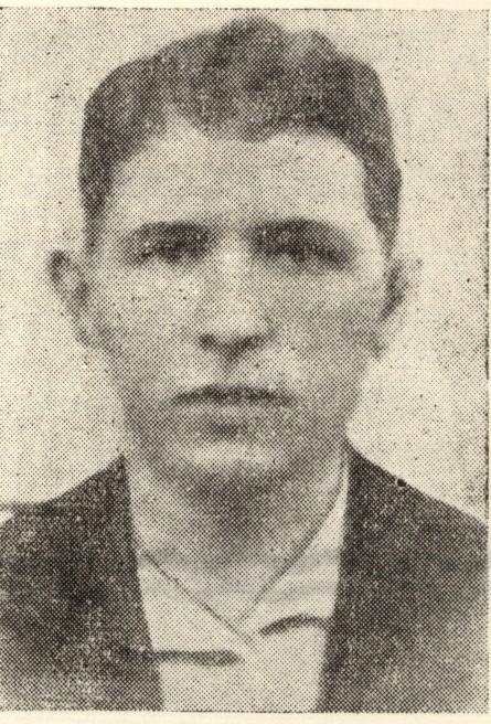 Yitzhak Rochzyn, leader of the Lachwa ghetto underground. [LCID: rochzyn]
