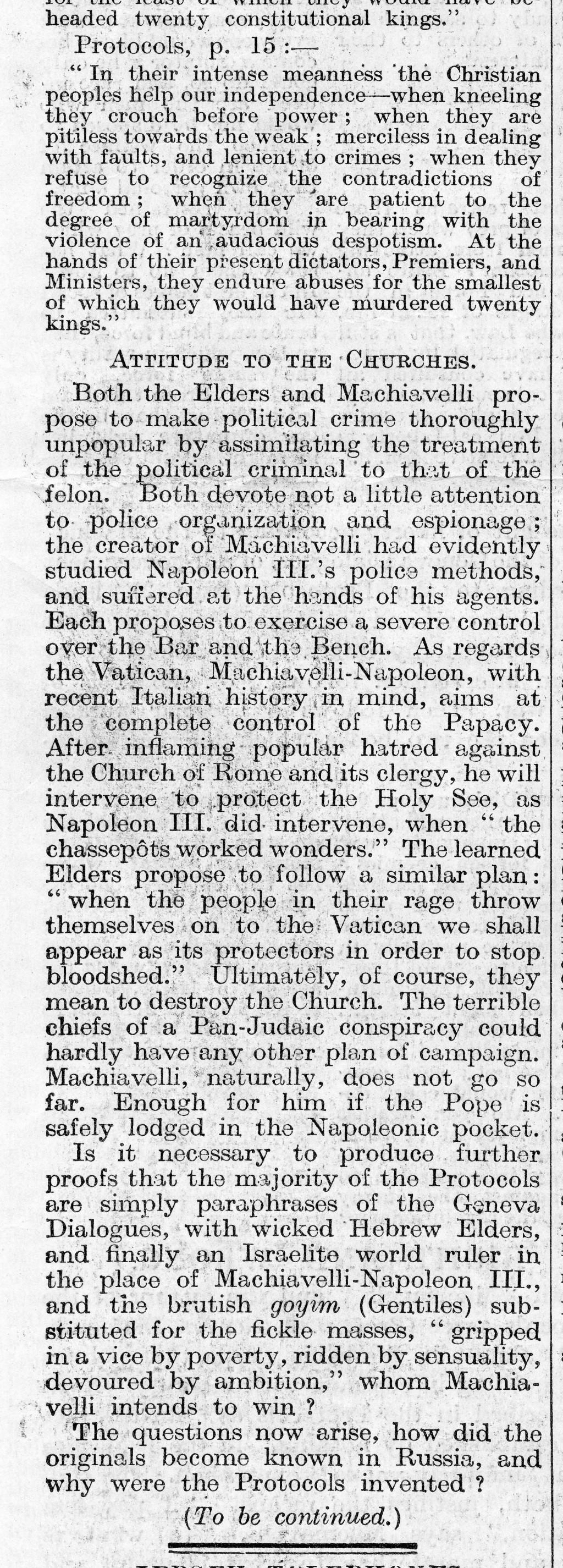 The Times, August 17, 1921 [LCID: 2006u83u]