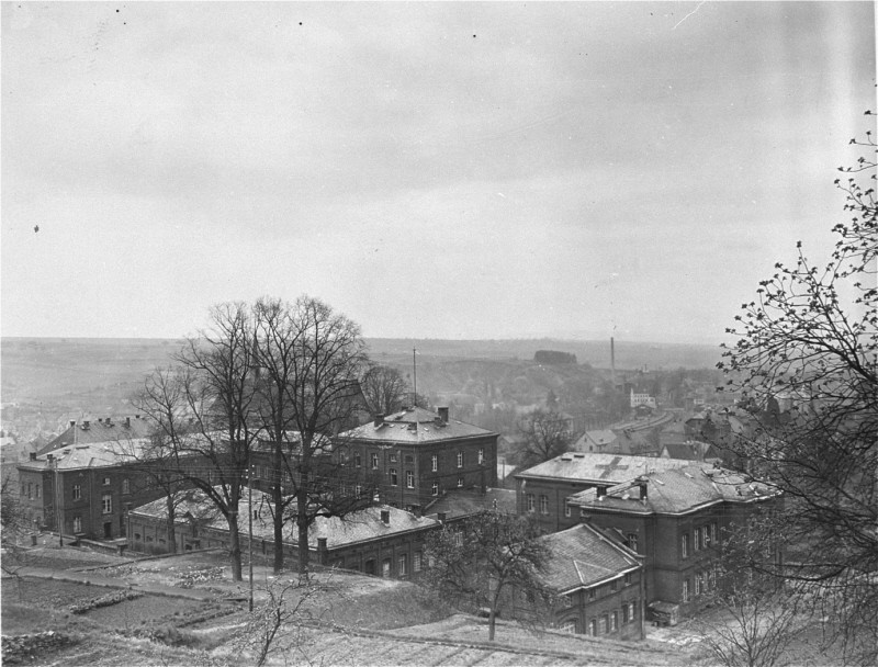 "<p>View of the <a href=""/narrative/8116"">Hadamar</a> Institute. This photograph was taken by an American military photographer soon after the liberation. Germany, April 7, 1945.</p>"