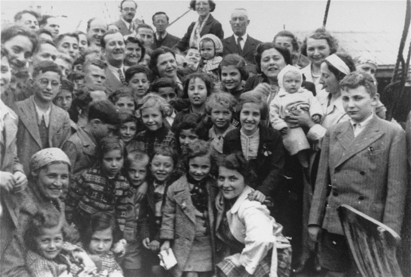 "Passengers aboard the ""St. Louis."" These refugees from Nazi Germany were forced to return to Europe after both Cuba and the US denied ... [LCID: 88245]"