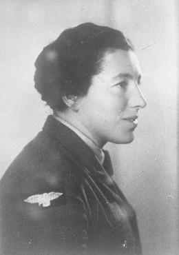 "<p>Photograph of <a href=""/narrative/5666"">Jewish parachutist</a> Haviva Reik taken before her mission to aid Jews in Slovakia during the Slovak national uprising. Palestine, before September 1944.</p>"