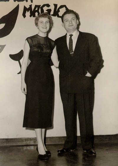 Thomas with his first wife, Dorothy, at the Zeta Tau Alpha Spring Formal, 1957.