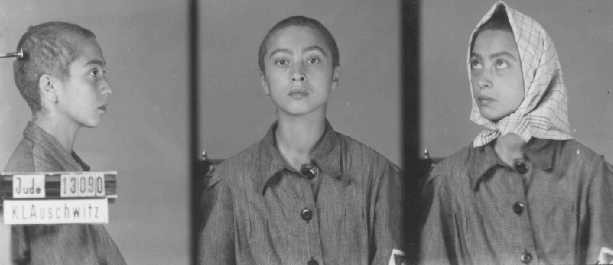 <p>Identification pictures of a female inmate of the Auschwitz camp. Poland, between 1942 and 1945.</p>