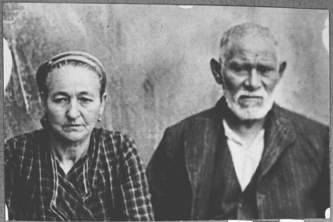 Portrait of David Kamchi, son of Masliach Kamchi, and his wife Sara.