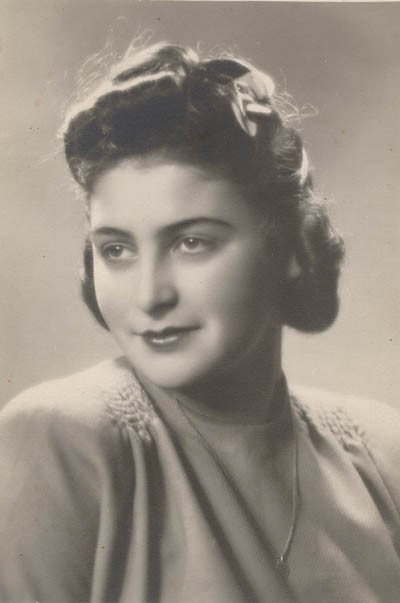 Regina's sister Krysia, Lodz, Poland, 1945. [LCID: gelb18]