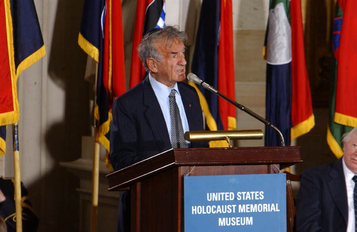 Elie Wiesel speaks at the Days of Remembrance ceremony, Washington, DC, 2002. [LCID: dor2002]