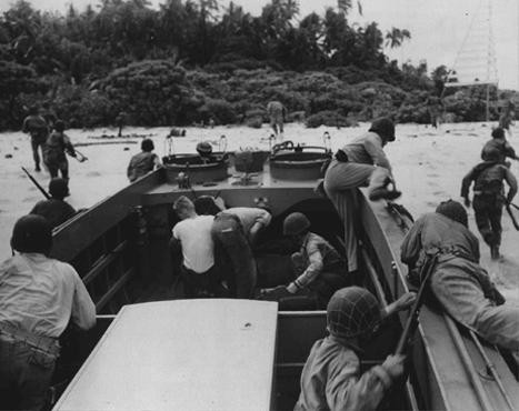 US troops land on Guadalcanal, in the Solomon Islands groups. [LCID: 20319]