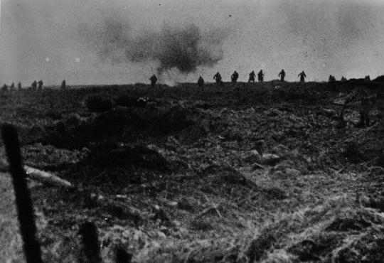 German troops attack Soviet lines. Soviet Union, 1943-1944. [LCID: 09604]
