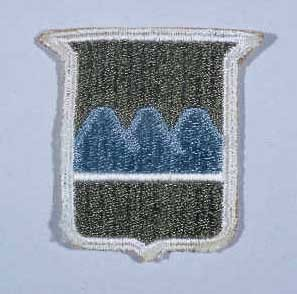 """Insignia of the 80th Infantry Division. The nickname of the 80th Infantry Division, the """"Blue Ridge"""" division, reflects the home ... [LCID: n05643]"""