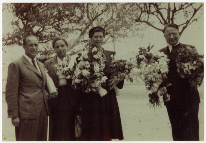 Lois Gunden and staff of Villa Saint Christophe