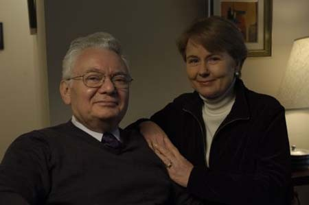 "<p>Photograph of <a href=""/narrative/10415"">Thomas</a> with his wife, Peggy.</p>