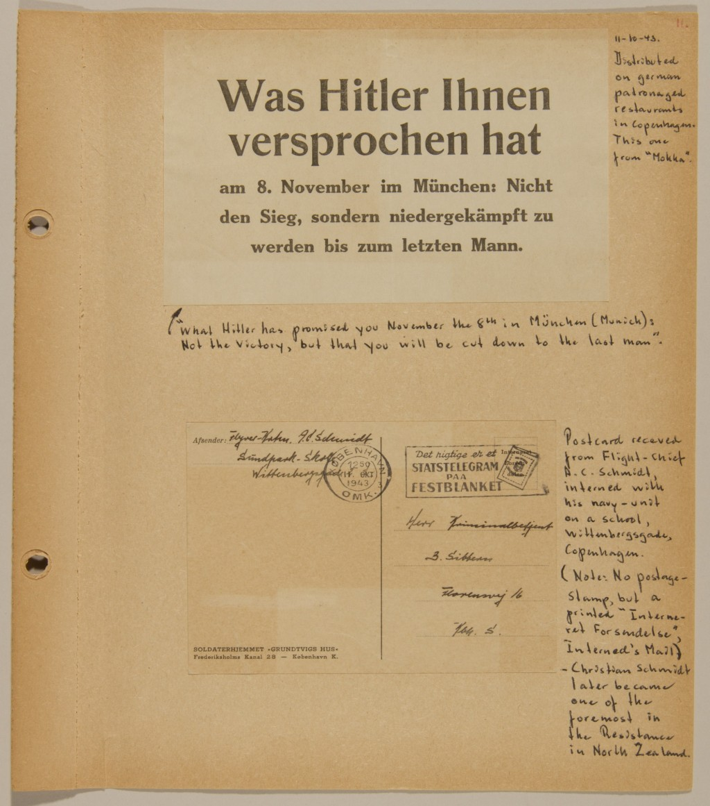 Page from volume 4 of a set of scrapbooks documenting the German occupation of Denmark [LCID: 2016liks]