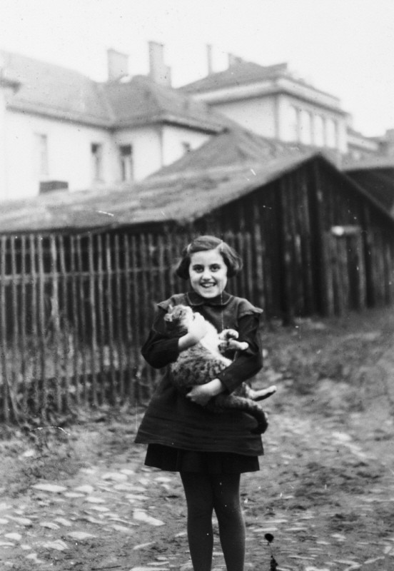 "<p>Kitty Weichherz, pictured here in a photograph taken before World War II began, was born in December 1929. This photo was taken from a diary of Kitty's life written by her father, Bela Weichherz. After Kitty's birth, Bela started to keep a diary of his daughter's life. He made entries recording her childhood in Czechoslovakia until the family was separated and deported during the Holocaust. His last entry reads ""I only wish that we can go together."" Kitty and all of her immediate family perished in the Holocaust. Bela's two diaries were hidden during the Holocaust and recovered after the war.</p>