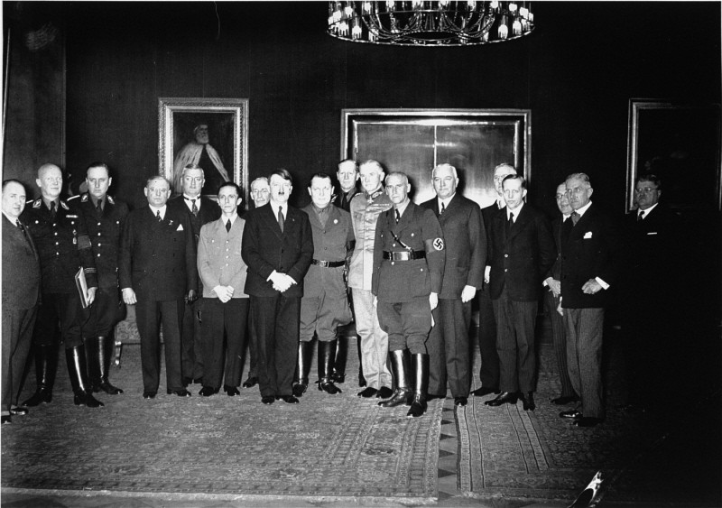 Adolf Hitler poses with his cabinet shortly after assuming power as chancellor of Germany. [LCID: 79487]