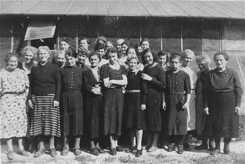 Prisoners at Gurs detention camp. Gurs, France, ca. [LCID: 03086]