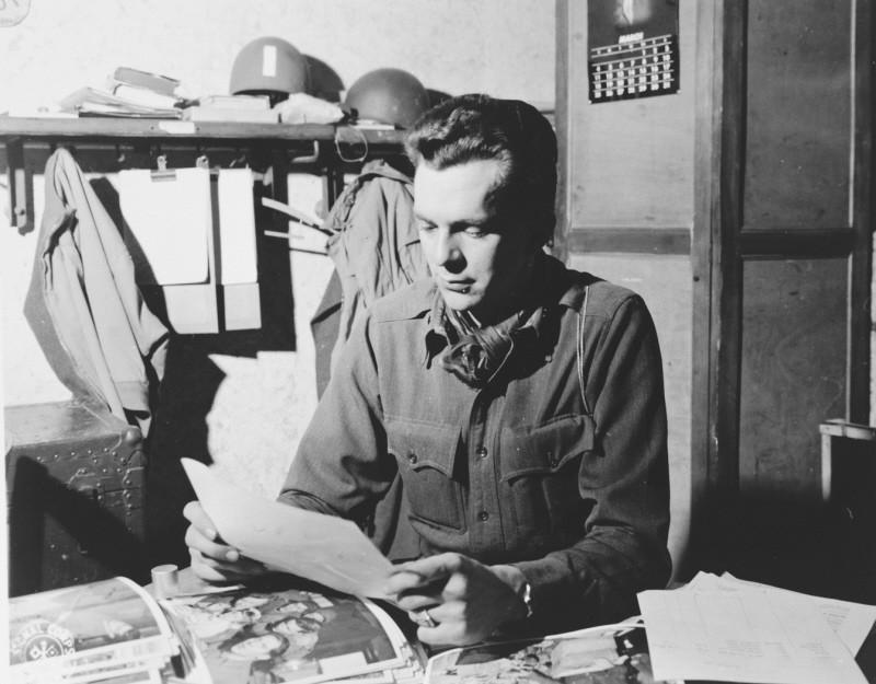Portrait of US combat photographer Arnold E. Samuelson. [LCID: 62747]