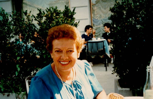 1984 photo of Thomas's mother, Gerda, at age 72. [LCID: buerg27]