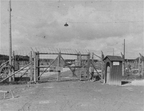 The entrance gate to Kaufering IV subcamp of Dachau. [LCID: 00324]