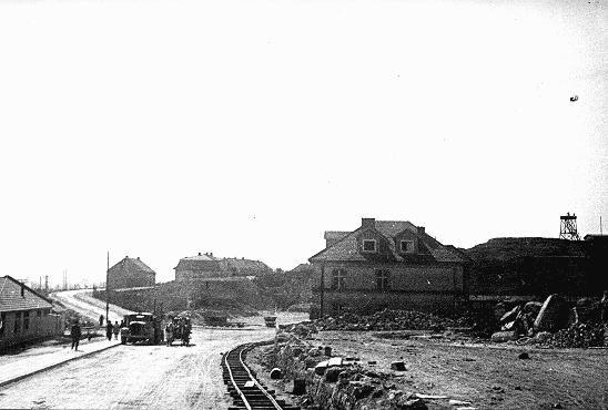 """<p>A section of the <a href=""""/narrative/4880/en"""">Płaszów</a>camp. Płaszów, Poland, 1943-1944.</p>"""