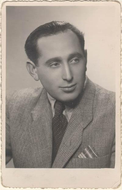 <p>Miles Lerman (who married Regina's sister Krysia), Lodz, Poland, 1945.</p>