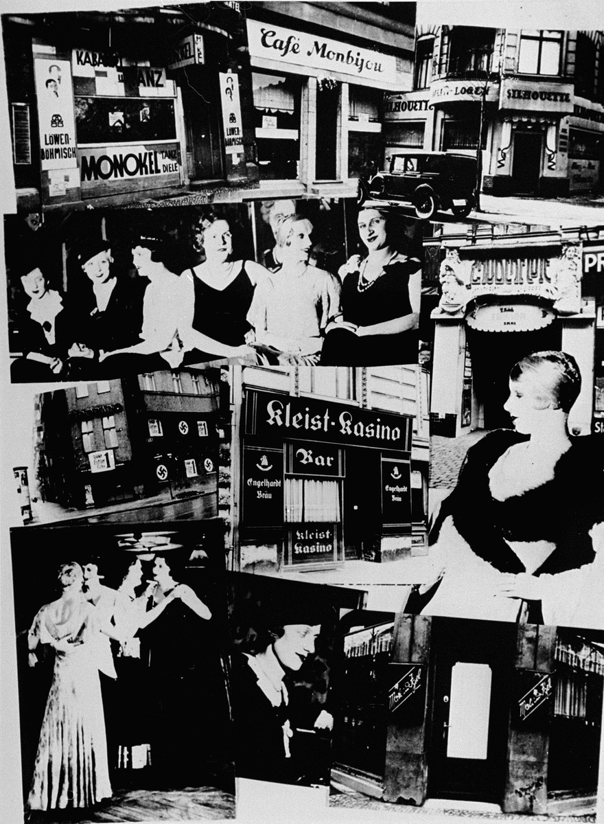 """<p>Collage created after the Nazi regime began to force <a href=""""/narrative/4631"""">gay</a> and <a href=""""/narrative/6695"""">lesbian</a> gathering spaces to close. It was published in the magazine, <em>Der Notschrei</em>. Berlin, March 1933.</p>"""
