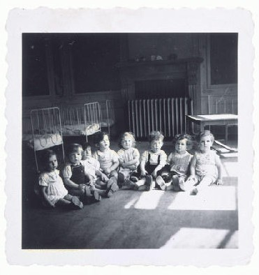 "<p>After the war, thousands of Jewish children ended up in orphanages all over Europe as a result of the Holocaust. The toddlers in this children's home in Etterbeek, Belgium, survived in <a href=""/narrative/7711/en"">hiding</a>, but their parents had been deported to <a href=""/narrative/3673/en"">Auschwitz</a>.</p>"