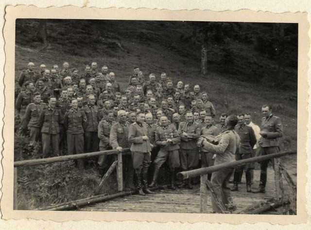 "A ""sing-along"" during a social gathering of the SS hierarchy at Solahütte. [LCID: 34739]"