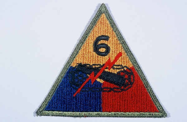 """Insignia of the 6th Armored Division. """"Super Sixth"""" became the nickname of the 6th Armored Division while the division was training ... [LCID: n05625]"""