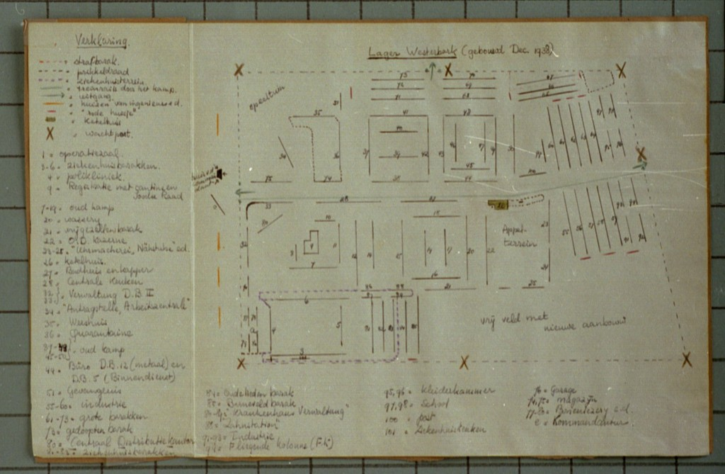 Hand-drawn plan of Westerbork transit camp [LCID: 1998m9u3]