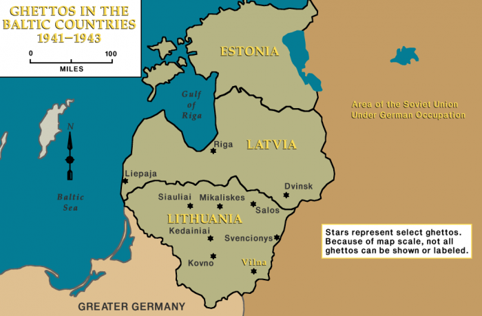 Ghettos in the Baltic Countries, 1941-1943, Vilna indicated