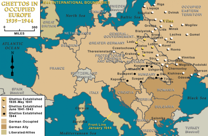 Ghettos in occupied Europe, 1939-1944, Vilna indicated