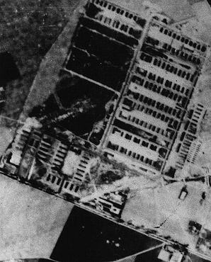 <p>A wartime aerial view of the Majdanek camp outside Lublin. </p>