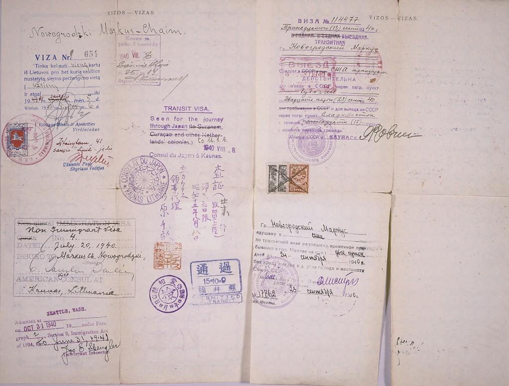 Lithuanian safe conduct pass (reverse) [LCID: 2000vkeh]