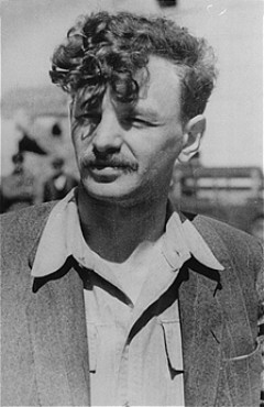 "<p>Yitzhak (Antek) Zuckerman, Zionist youth leader and a founder of the Jewish Fighting Organization (ZOB). He fought in the <a href=""/narrative/3636"">Warsaw ghetto uprising</a>. Place and date uncertain.</p>"