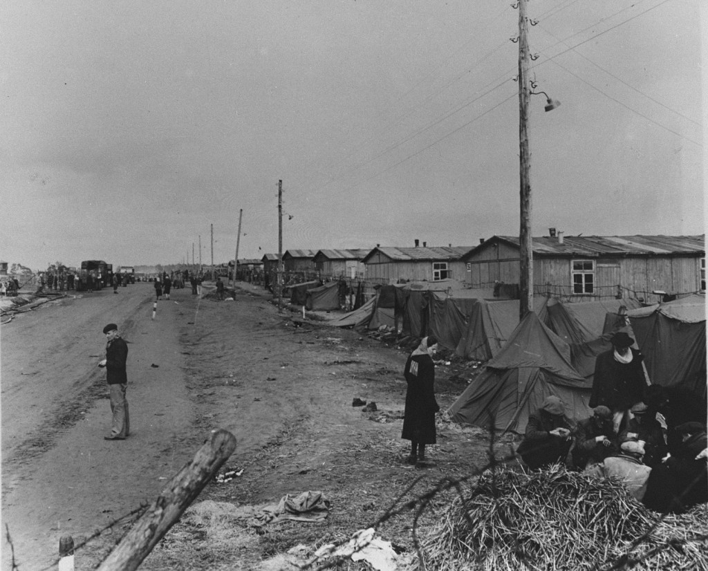 View of Bergen-Belsen concentration camp. Germany, date uncertain. [LCID: 77205]